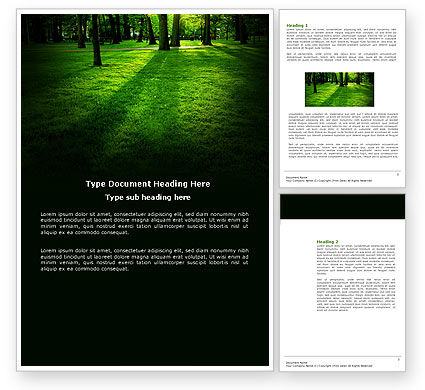 Woods Word Template, 04082, Nature & Environment — PoweredTemplate.com