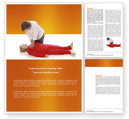 Medical: Cardiac Massage Word Template #04089