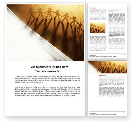Mutual Assistance Word Template, 04092, Consulting — PoweredTemplate.com