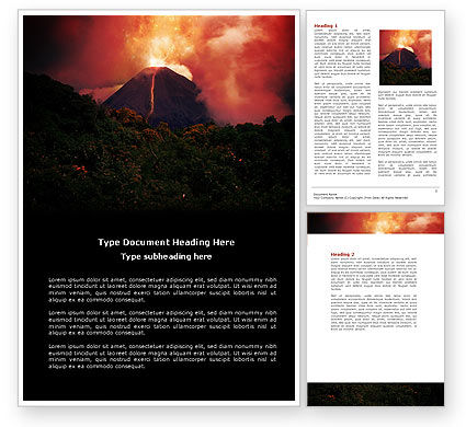 Eruption Word Template, 04094, Nature & Environment — PoweredTemplate.com