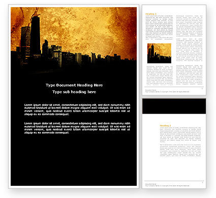 Construction: Skyline Of A City Word Template #04096