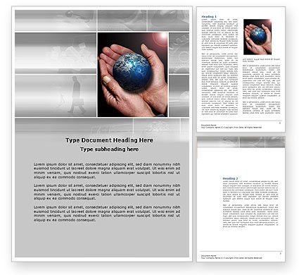 Global Business World Word Template
