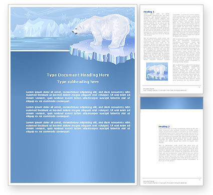 Sea Bear Word Template, 04111, Agriculture and Animals — PoweredTemplate.com