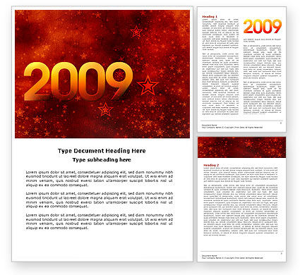 Holiday/Special Occasion: 2009 celeb yr Word Template #04115