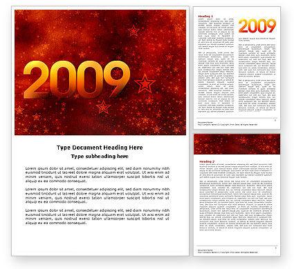 2009 celeb yr Word Template, 04115, Holiday/Special Occasion — PoweredTemplate.com