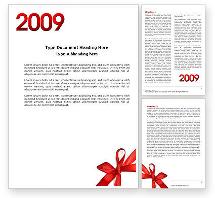 Holiday/Special Occasion: 2009 yr Word Template #04122