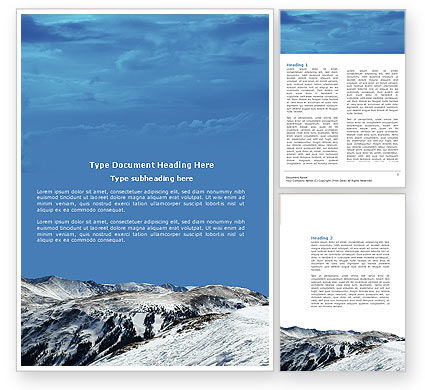 Nature & Environment: Snowy Mountains Word Template #04123