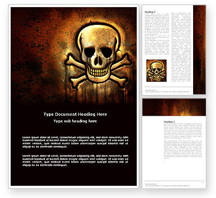 Pirate Sign Word Template, 04124, Military — PoweredTemplate.com