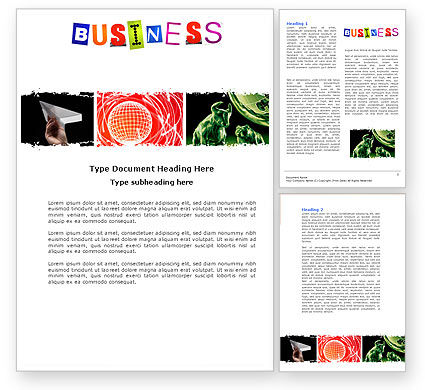 Business: Modelo do Word - tema do negócio #04125