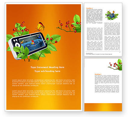 Game Console Free Word Template, 04127, Technology, Science & Computers — PoweredTemplate.com
