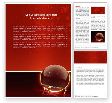 Fortune-telling Word Template, 04128, Holiday/Special Occasion — PoweredTemplate.com