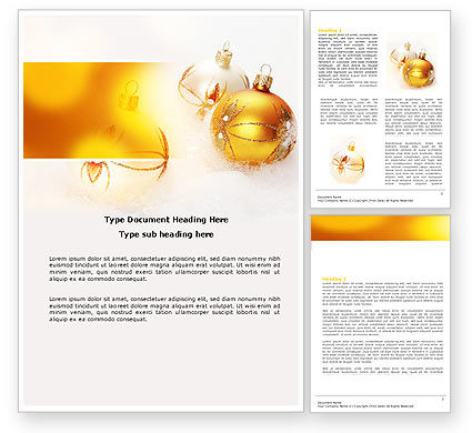 Holiday/Special Occasion: Free Christmas Decorations Word Template #04134