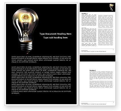 Electric Light Word Template, 04138, Business Concepts — PoweredTemplate.com