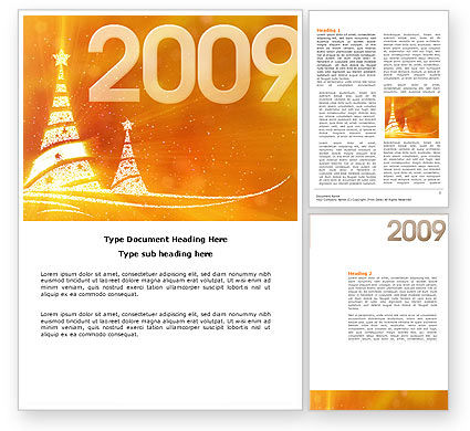 Holiday/Special Occasion: N 2009 Y Word Template #04145