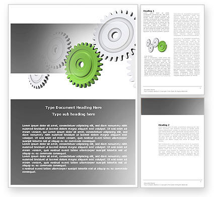 Business Concepts: Pinion Transmission With Lead Gear Word Template #04154