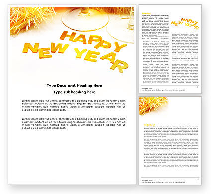 New Year Party Free Word Template, 04156, Holiday/Special Occasion — PoweredTemplate.com