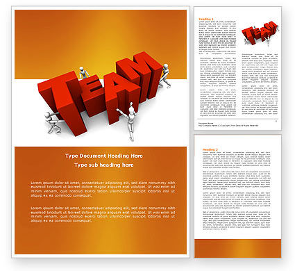Team Efforts Word Template, 04158, Consulting — PoweredTemplate.com