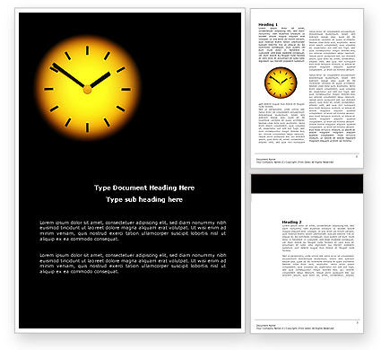 Time X Word Template, 04159, Business Concepts — PoweredTemplate.com