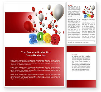 Celebrating 2009 PowerPoint Template, 04161, Holiday/Special Occasion — PoweredTemplate.com