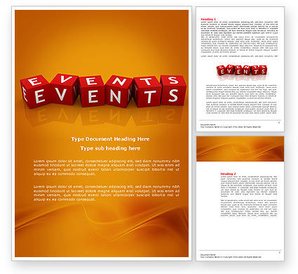 Careers/Industry: Events Word Template #04166