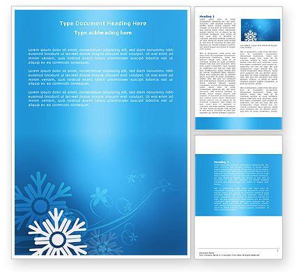 Holiday/Special Occasion: Snowflake Theme Word Template #04167