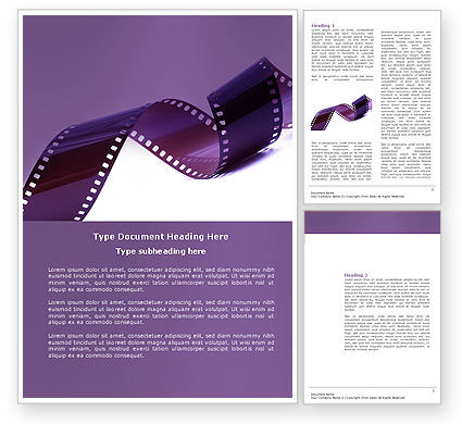 Careers/Industry: Film Strip In Purple Color Word Template #04168