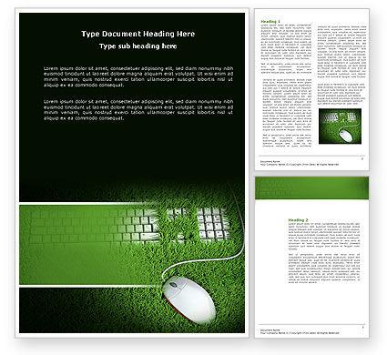 Technology, Science & Computers: Modelo do Word - tecnologia verde #04173