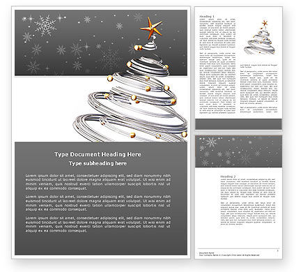 Holiday/Special Occasion: New Year Tree Word Template #04174