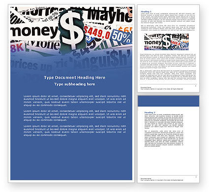 Money Assets Word Template, 04179, Financial/Accounting — PoweredTemplate.com