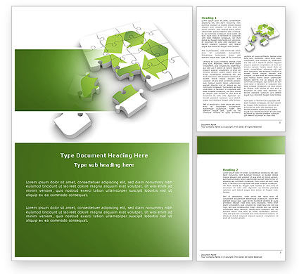 Business Concepts: Recycle Technology Word Template #04181