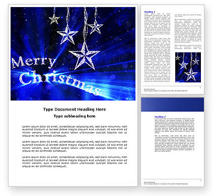 Holiday/Special Occasion: Blue Christmas Word Template #04182