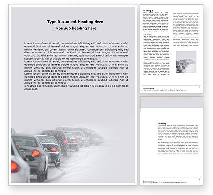 Snowstorm Word Template, 04185, Cars/Transportation — PoweredTemplate.com