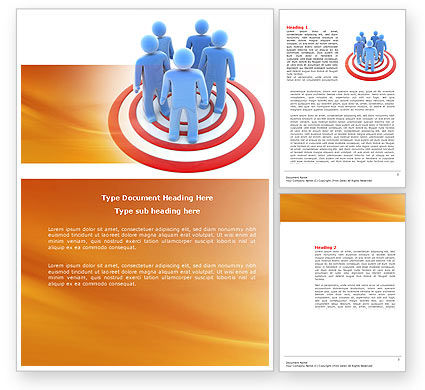 Target Audience Word Template, 04187, Consulting — PoweredTemplate.com