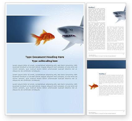 Predator and Prey Word Template, 04188, Business Concepts — PoweredTemplate.com