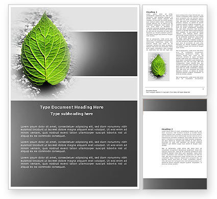 Nature & Environment: Green Idea Word Template #04193