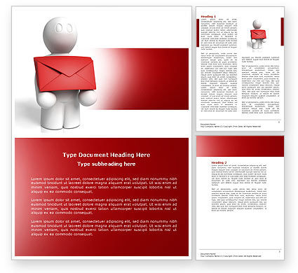 Email Delivery Word Template, 04195, Careers/Industry — PoweredTemplate.com