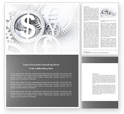Financial/Accounting: World Hard Currency Word Template #04203