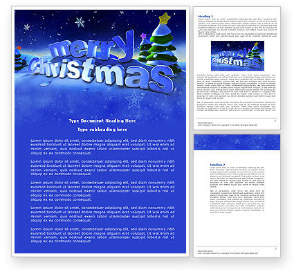 Free Happy Christmas Theme Word Template 04205 – Free Christmas Templates for Word