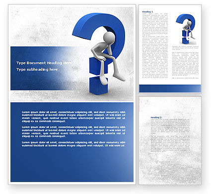 Unsolved Issue Word Template, 04213, Consulting — PoweredTemplate.com