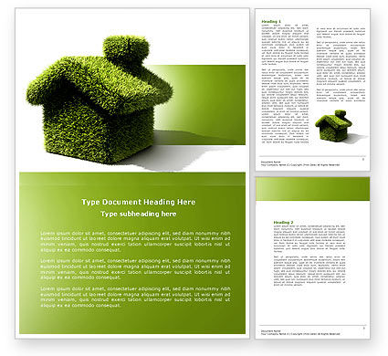 Nature & Environment: Green House Word Template #04215