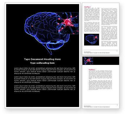 Brain Receptor Word Template, 04218, Medical — PoweredTemplate.com