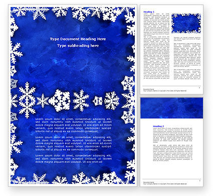 Holiday/Special Occasion: Winter Theme Word Template #04220