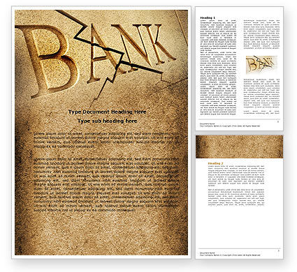 Bank Bankruptcy Word Template, 04221, Financial/Accounting — PoweredTemplate.com