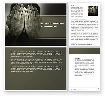 Sorrow Word Template, 04222, People — PoweredTemplate.com