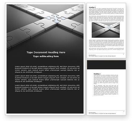 Junction Word Template, 04224, Business Concepts — PoweredTemplate.com