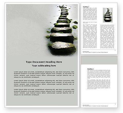 Education & Training: Path Word Template #04228