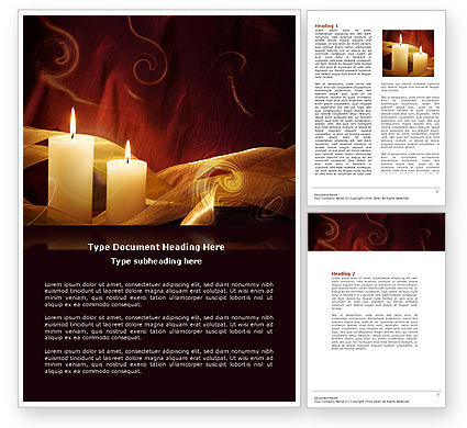 Candle Light Word Template, 04239, Religious/Spiritual — PoweredTemplate.com
