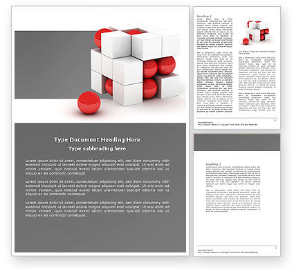 Cubic Structure Word Template, 04243, Construction — PoweredTemplate.com