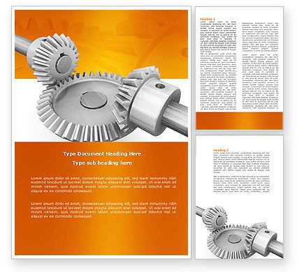 Utilities/Industrial: Mechanics Word Template #04244