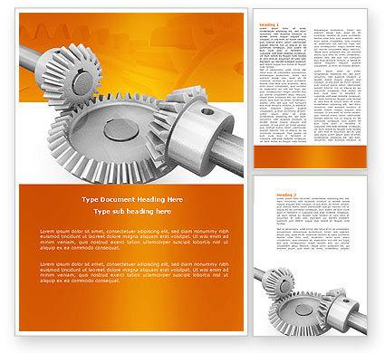 Mechanics Word Template, 04244, Utilities/Industrial — PoweredTemplate.com